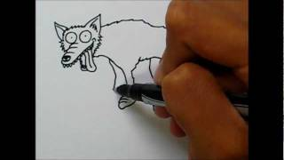 Simple Art Style - How to draw a Coyote