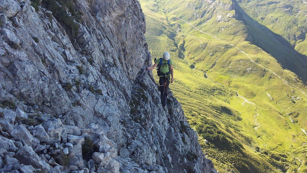 Klettersteig Tannheimer Tal : Klettersteig lachenspitze nordwand youtube