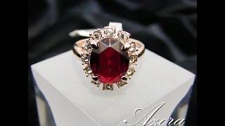 Позолоченное кольцо 'Рубиновая Капля'(, 2014-03-15T15:26:27.000Z)