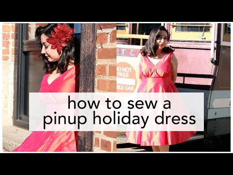 The Little Red Dress Project, Butterick B5603 Pinup Holiday Dress! | Vintage on Tap