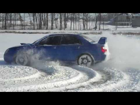 Conor Daly snow drifting 2010
