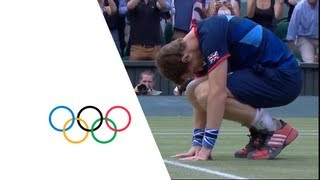 Andy Murray Defeats Roger Federer For Olympic Tennis Gold - London 2012 Olympics