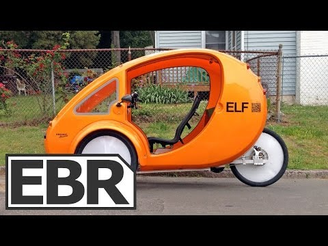 2013 Organic Transit ELF Video Review - Solar Powered Electric Bike with Canopy and Cargo Holds