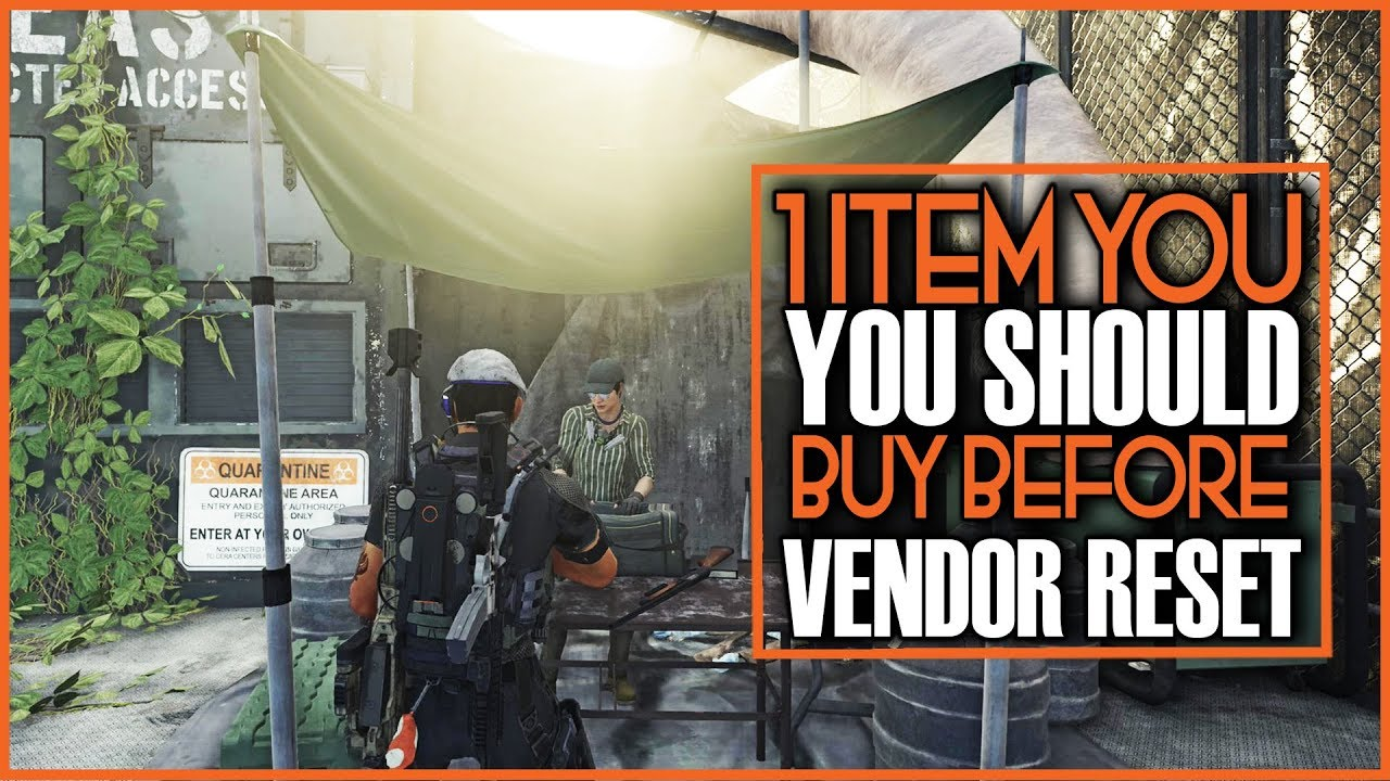 THE DIVISION 2 - ONE ITEM YOU SHOULD BUY THIS WEEK AND HERE IS WHY