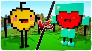 House of NOOB GOLDEN APPLE vs house of PRO RED APPLE - MINECRAFT