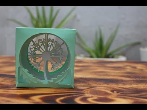 Dandelion flower paper - kirigami dandelion (a paper dandelion flower box) Creative Paper Art