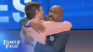 Isaac keeps it CLEAN! | Family Feud