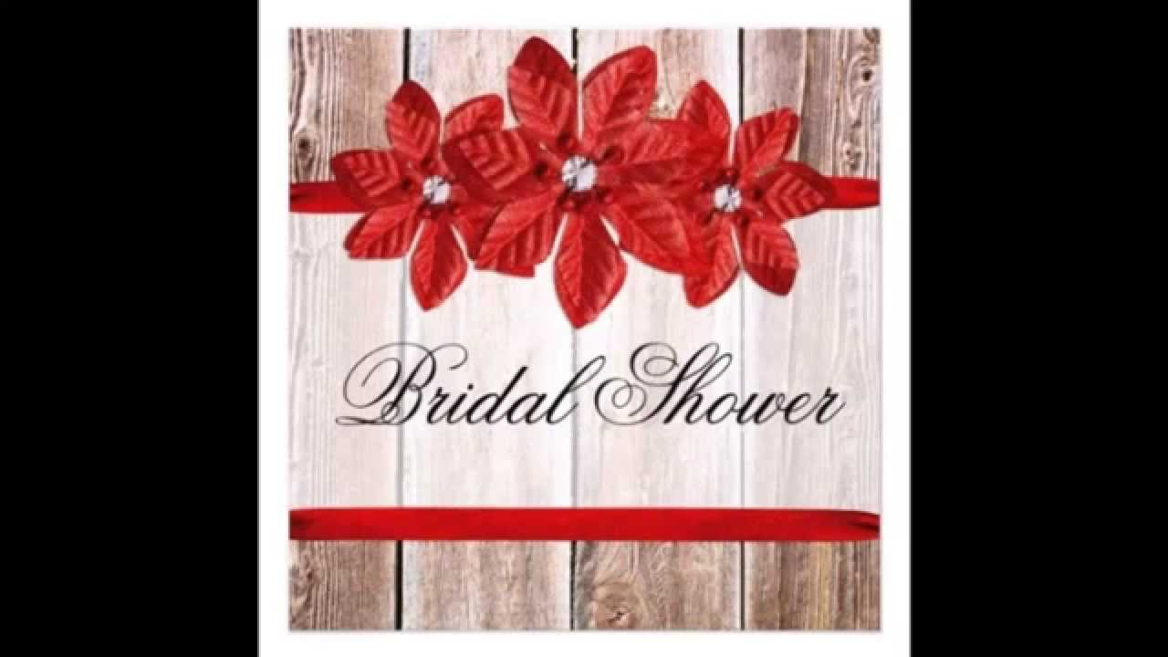 Rustic and Country Themed Wedding Shower Invitations - YouTube
