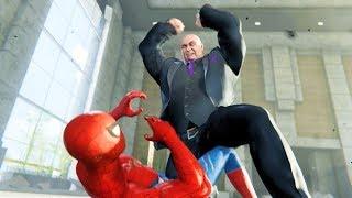 Spider-Man PS4: All King Pin Boss Cut Sences at Fisk Tower 4k Ultra HD 2160p
