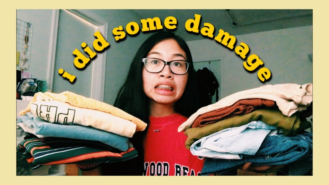 back to school clothing haul ☆ thrifted, sale, vsco