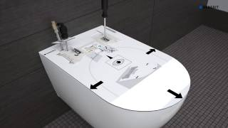 Sanitaireiland - Geberit AquaClean Tuma Douche toilet Installatie