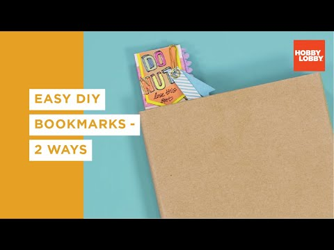 Easy DIY Bookmarks - 2 Ways   Hobby Lobby®