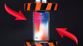 vuclip HYDRAULIC PRESS VS IPHONE X AND TOYS | The Crusher