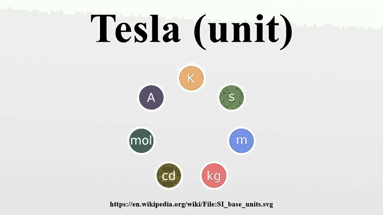 What is a tesla in si units