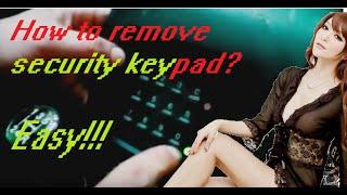 Citroen Peugeot annoying security keypad disabling removing it permanently car alarm fix DIY