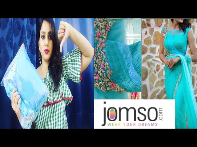JOMSO Saree unboxing and review | worth it?? | party wear saree | beauty blend vlogs