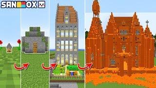 제일 작은 '초미니집'이 *초거대 용암집*으로 진화! 흙수저 형제들의 초미니집이..[초미니집 진화] 마인크래프트 Minecraft - [램램]
