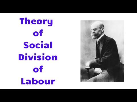 Emile Durkheim Theory of Social Division of Labour in Hindi | Sociology
