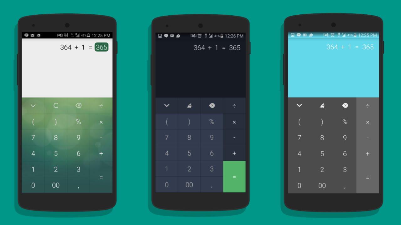 Calc la calculadora m s poderosa con material design for Space material design