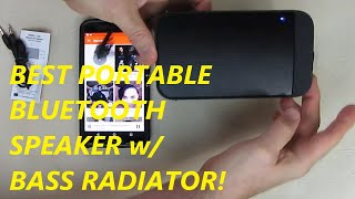 REVIEW TEWELL T-300 Portable Bluetooth Speaker Waterproof  with Bass Radiator & Slim Body