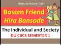 Bosom Friend By Hira Bonsode Individual and Society  BA(P) First Semester 1 Sol