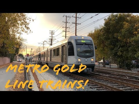 Los Angeles Metro Gold Line Trains in South Pasadena, Little Toyko, & Monrovia!