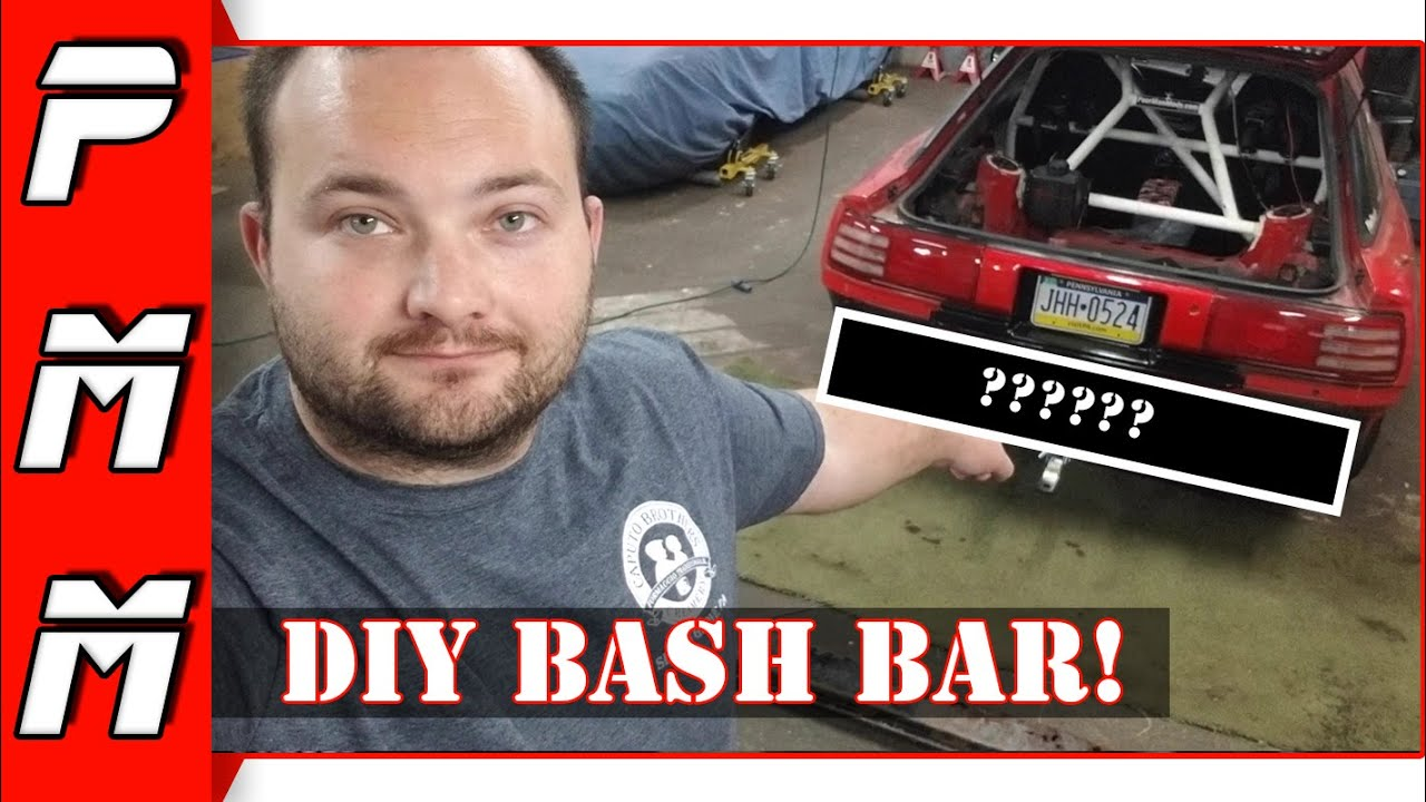 I made a rear bash bar for the Supra!