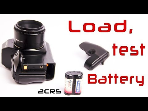 Load, Check and Replace Battery in Canon EOS 650 Film Camera
