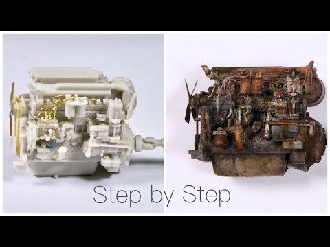 Tutorial: How to paint and weather an old engine