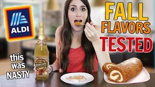 Testing all of Aldi's FALL FLAVORED Foods // What's actually worth it?