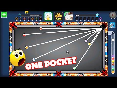 8 Ball Pool All Ball One Pocket Challenge -Unlucky Level 10000% ?