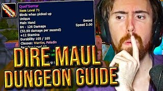 Asmongold Reacts To The Dire Maul DUNGEON GUIDE By Punkrat - Classic WoW Phase 1.5