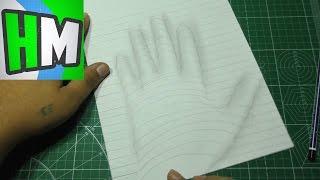 DIY - Как нарисовать 3D рисунок. Оптическая иллюзия на бумаге.(В данном видео поэтапно показано, как нарисовать 3D рисунок не имея практических навыков в рисовании (как..., 2016-09-14T17:02:09.000Z)