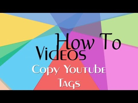 How To Copy and Paste Youtube Tags Between Videos