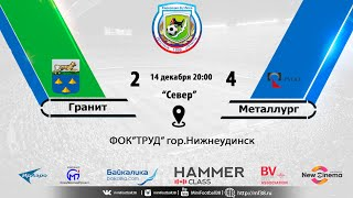"Обзор матча ""Гранит"" - ""Металург"" 2:4 14.12.2018"