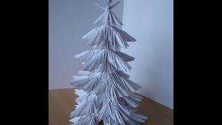 Модульная ёлка оригами - часть 1 из 2 (origami)(Ёлка в технике модульного оригами. Полный видеоролик можно скачать на сайте www.ModelMen.ru., 2009-12-07T10:53:57.000Z)