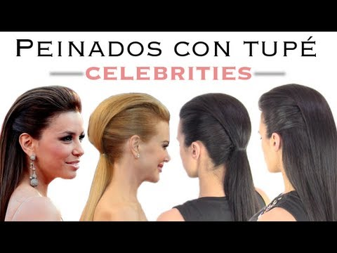 Peinados Con Tupe De Las Celebrities Youtube - Recogidos-con-tupe