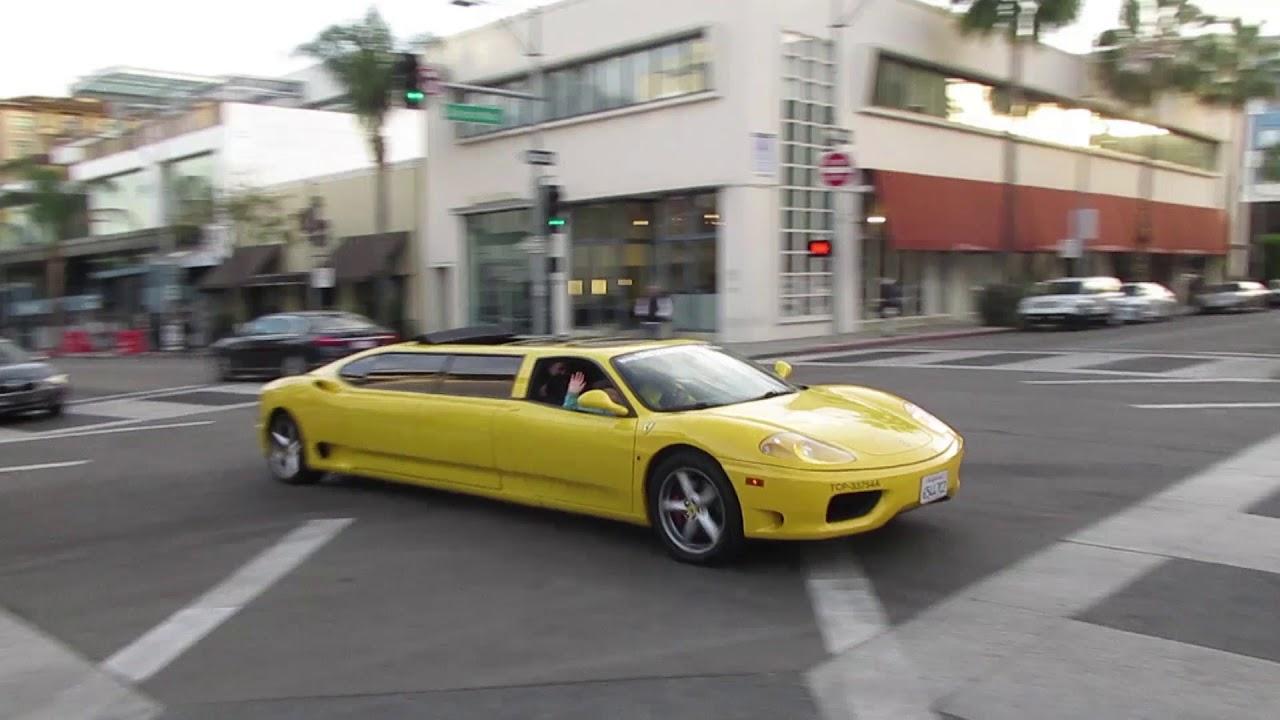 Ferrari 360 Stretch Limo in Beverly Hills