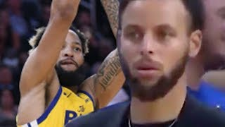 Steph Curry Has A PRICELESS Reaction To Warriors Rookie Ky Bowman AIRBALLING A 3 Pointer