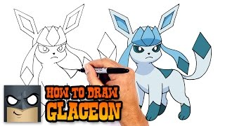 How to Draw Glaceon | Pokemon