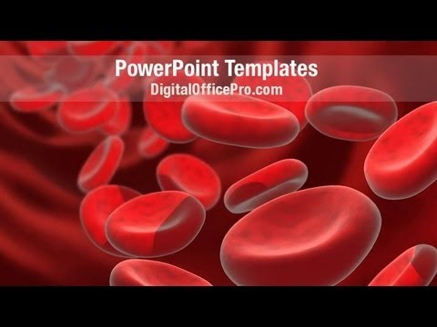 blood cell powerpoint template backgrounds - digitalofficepro, Modern powerpoint
