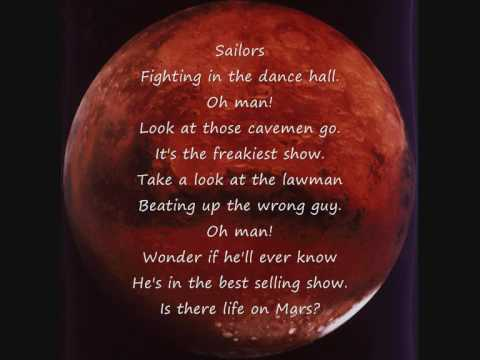 life on mars david bowie with lyrics on screen