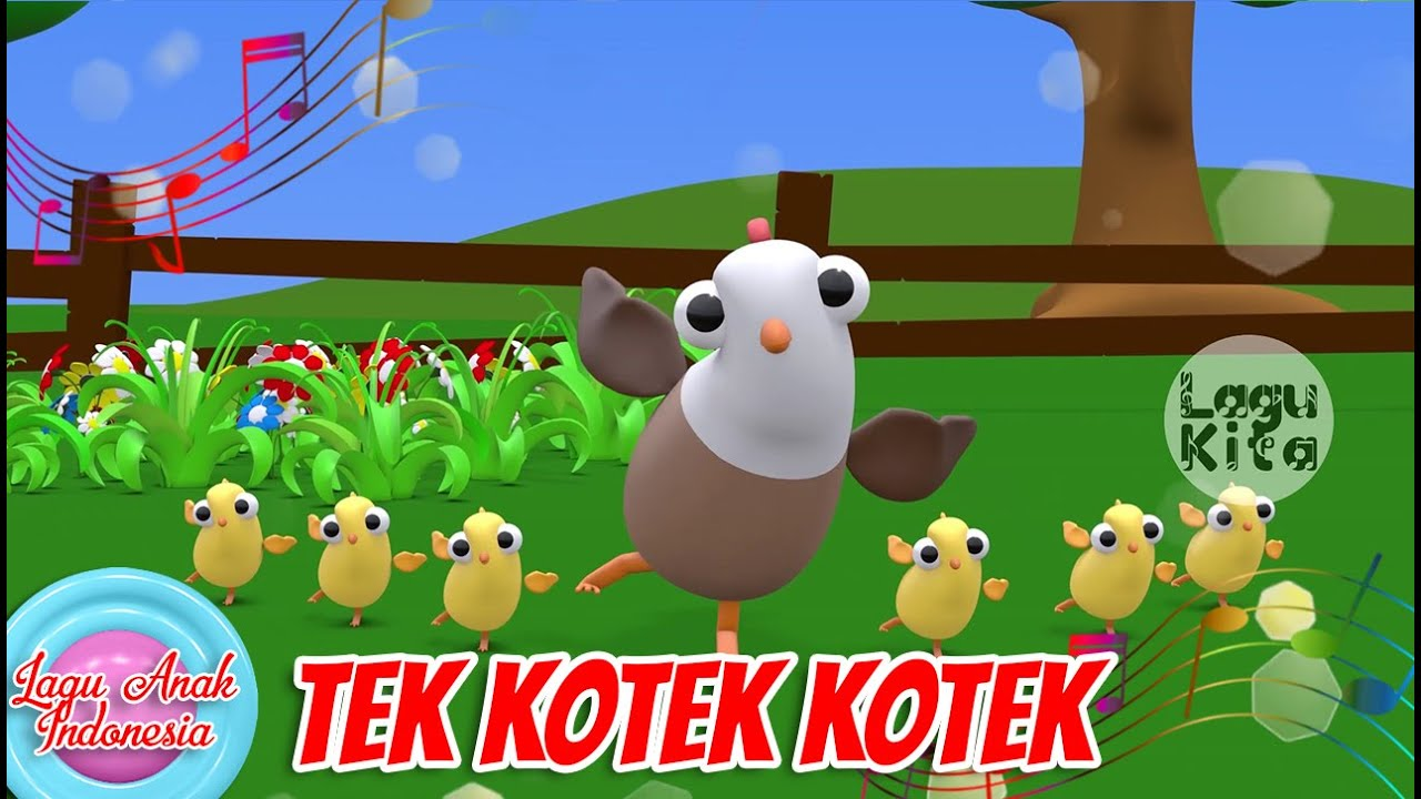 Tek Kotek Kotek (Anak Ayam Turun Berkotek) | 3D | Lagu Anak Channel