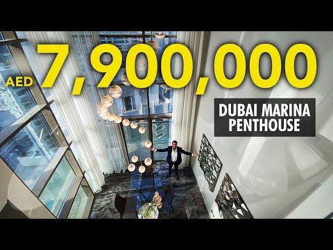 7.9 MILLION DUBAI Marina Duplex Penthouse in No. 9 Tower | Property VLOG 26