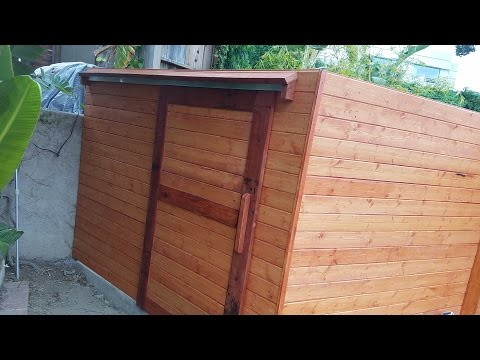 Build a sliding door for outdoor shed