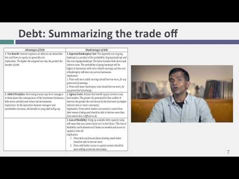 Session 17: Optimal Financing Mix I - The Trade Off