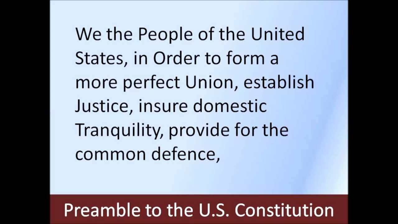 Preamble to the U.S. Constitution -- Hear and Read the Full Text ...