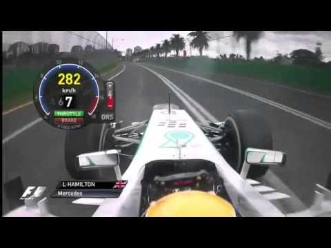 F1 2013 - Melbourne - Lewis Hamilton Race Onboard