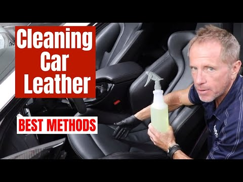 Cleaning Car Leather: BEST methods for professional results