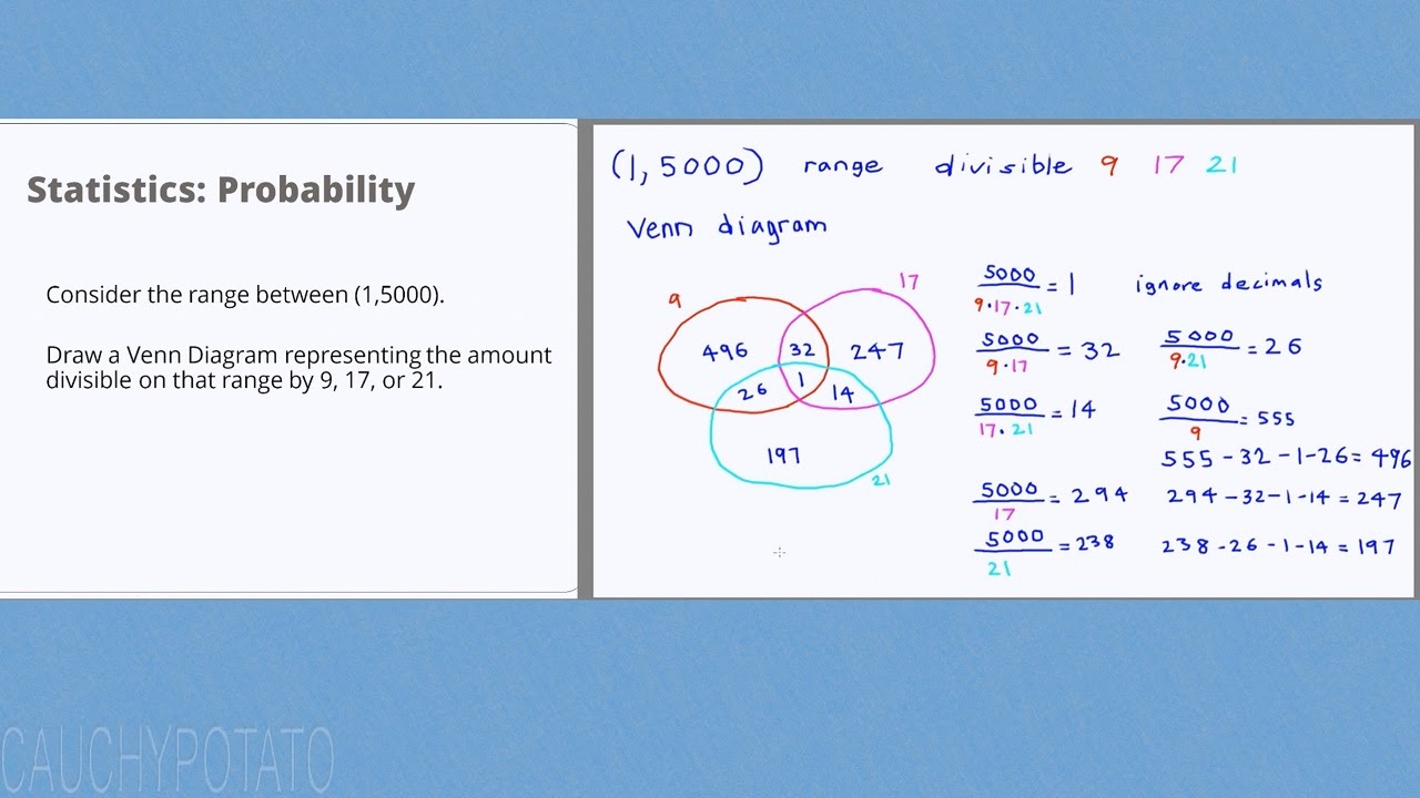 statistics probability 17 venn diagram example [ 1280 x 720 Pixel ]